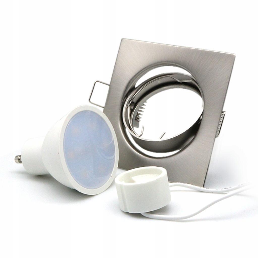 Wpuszczana oprawka podsufitowa LED z żarówką gu10