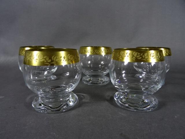 Szklanki literatki do Whisky szkło złoty pasek