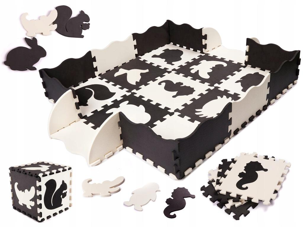 Kontrastowa mata edukacyjna - puzzle piankowe