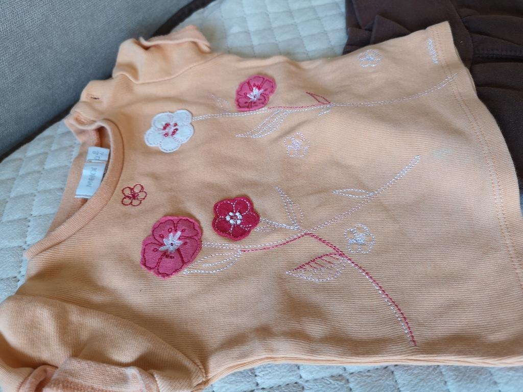 Zestaw spodnie koszulka 2-4 miesiecy 62/68 UN