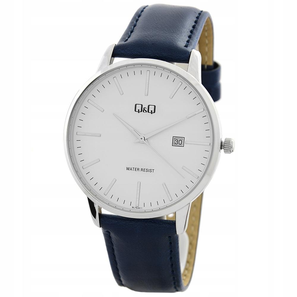 Zegarek unisex Q&Q BL76-811 datownik + PUDEŁKO