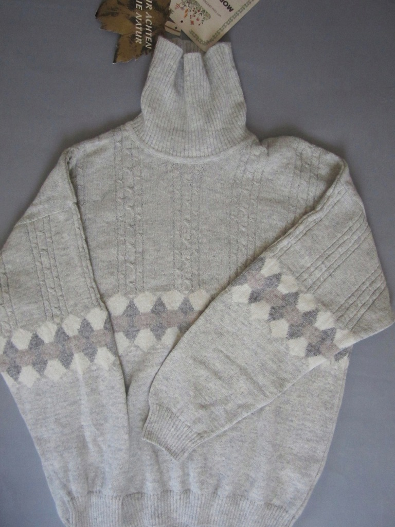 MODA MASSIMO sweter golf wool alpaca silk angora