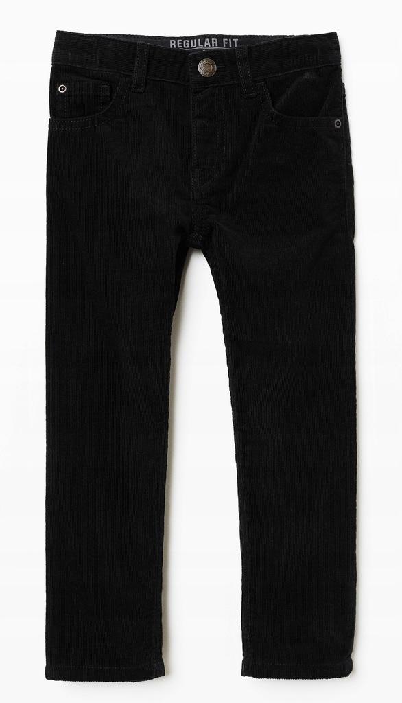H&M mięciutkie SPODNIE sztruksy r.104 czarne