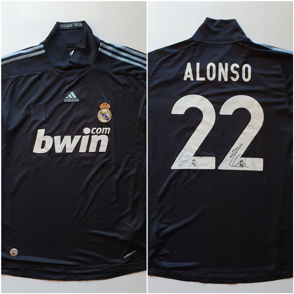Xabi Alonso, Real Madryt - kos. z autografem (zag)