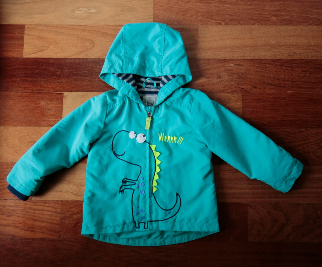 COOL CLUB wiosenna kurtka chłopięca dinozaur 92