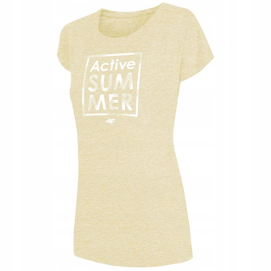 T-Shirt 4F H4L19-TSD011 71M żółty S