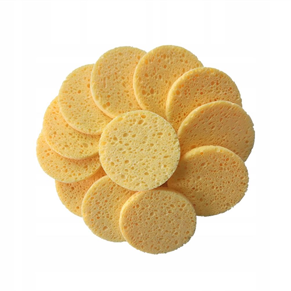 50pcs Natural Wood Pulp Sponge Cellulose Compress