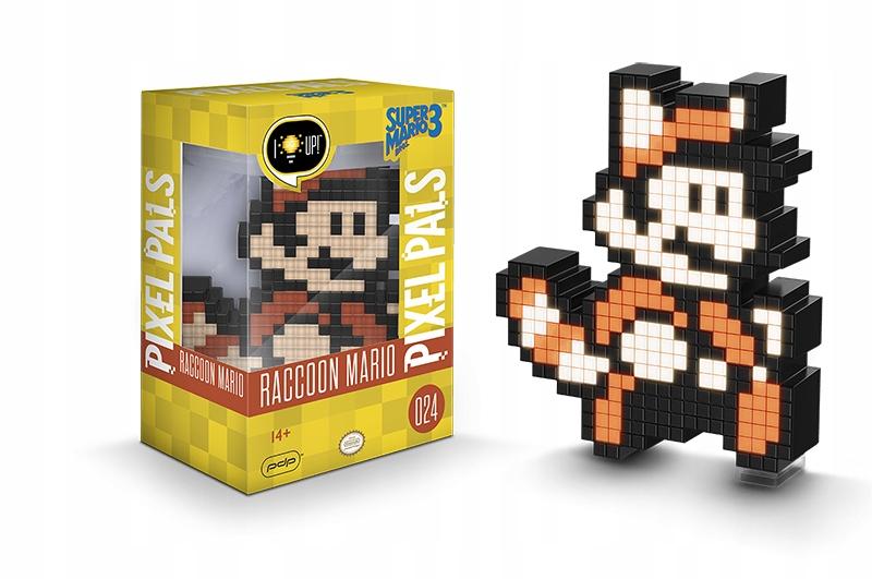 PDP Pixel Pals Raccoon Mario Świecąca Figurka