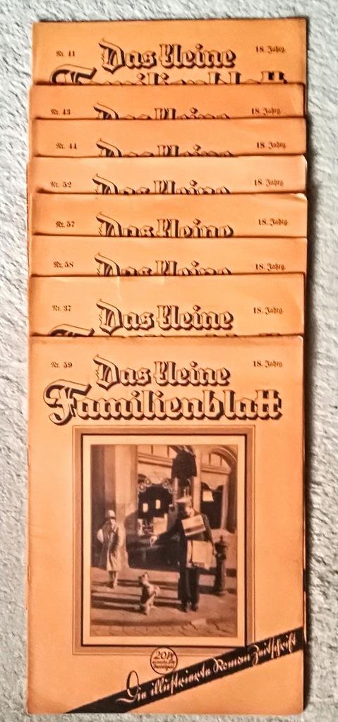 Niemcy Das Kleine Familienblatt Lata 20-te 8 szt.