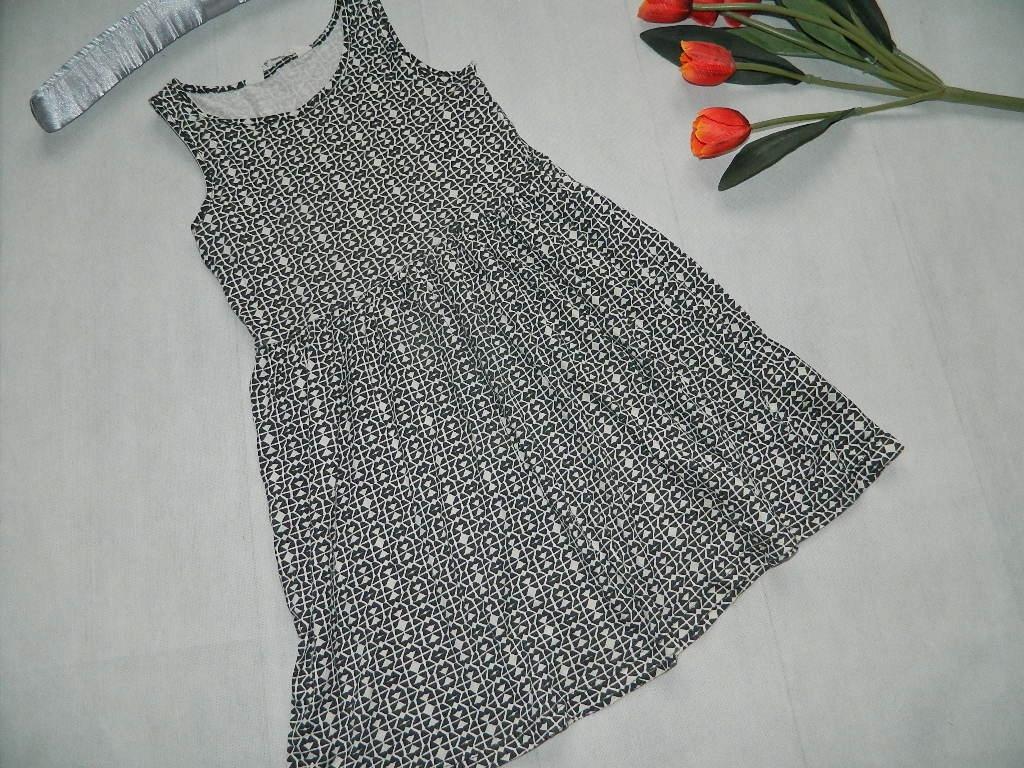 H&M sukienka WZORY szkoła 116-122***6-7