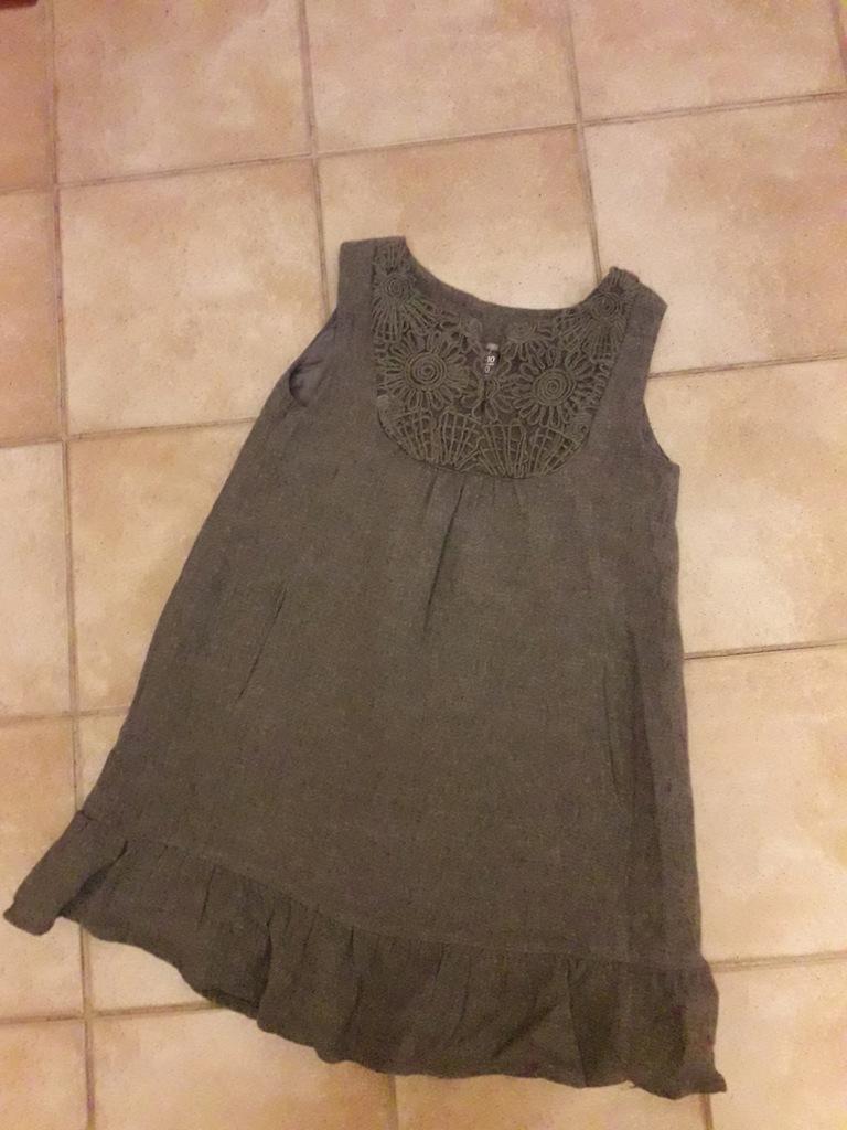 Zara-ciepła sukienka 9-10 l.