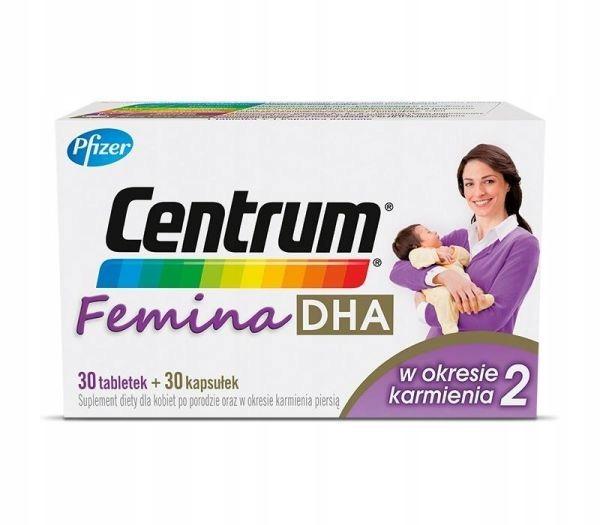 Centrum Femina 2 DHA w okresie karmienia 30 + 30
