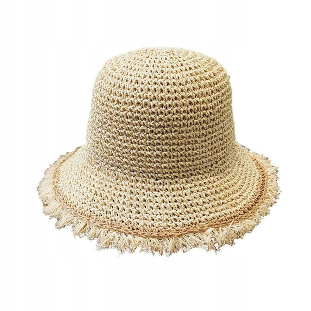 Kobiety Outdoor Składany słomkowy kapelusz Kapelus
