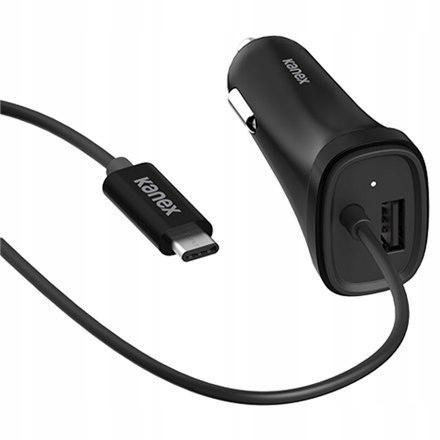 Kanex USB-C Car Ładowarka - 4FT/1.2M - Black