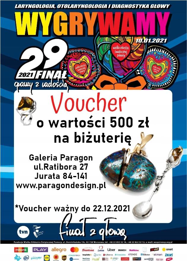 Voucher 500 zł na biżuterię