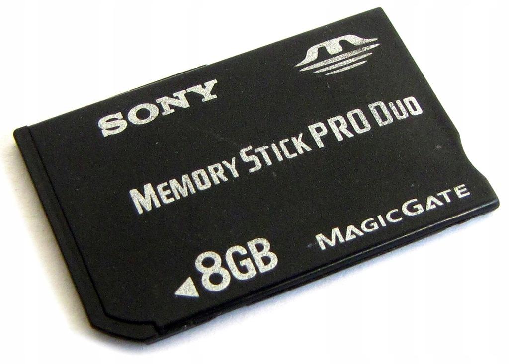 KARTA PAMIĘCI SONY 8GB MEMORY STICK PRO DUO do PSP