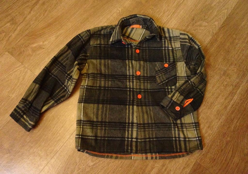 Ciepła flanelowa koszula w kratę dla chłopca 128
