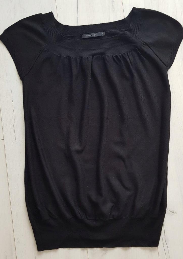 Cienki sweterek top krótki rękaw L Reserved GRATIS