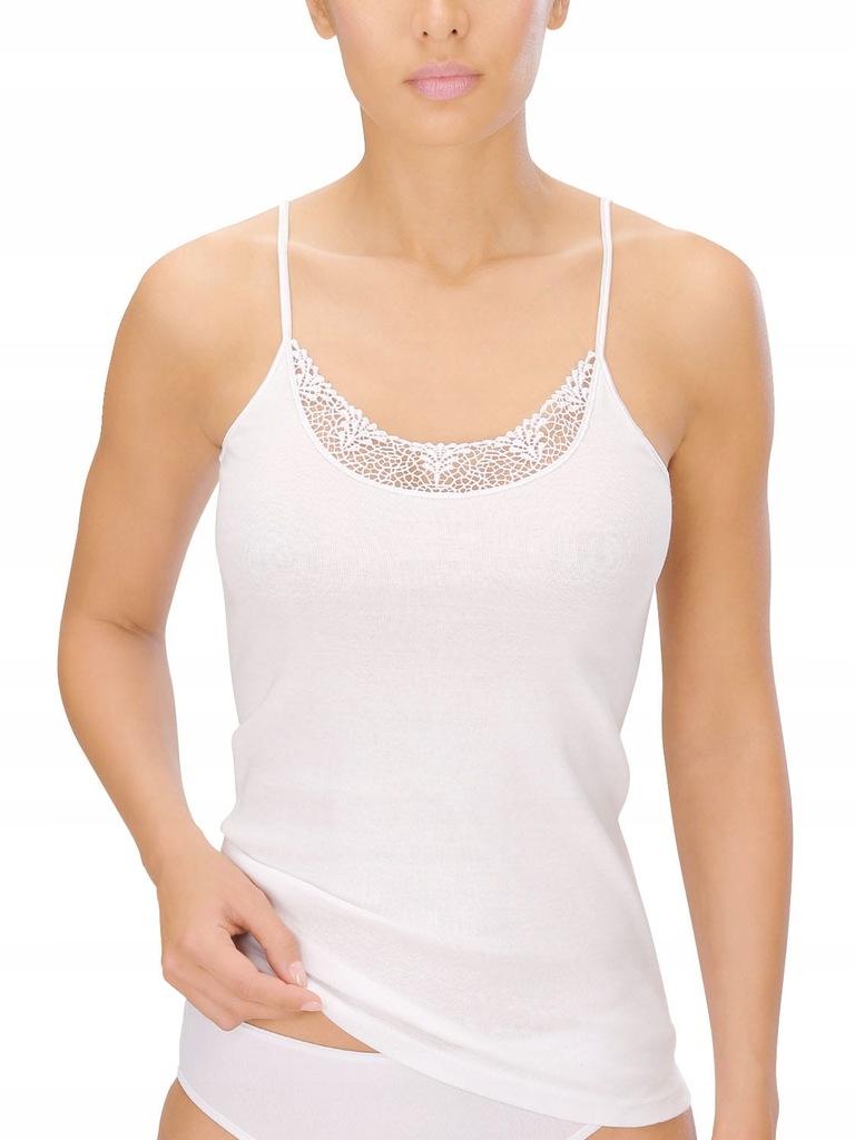 Koszulka Naturana Ram. Bawełna Biała 40 koronka