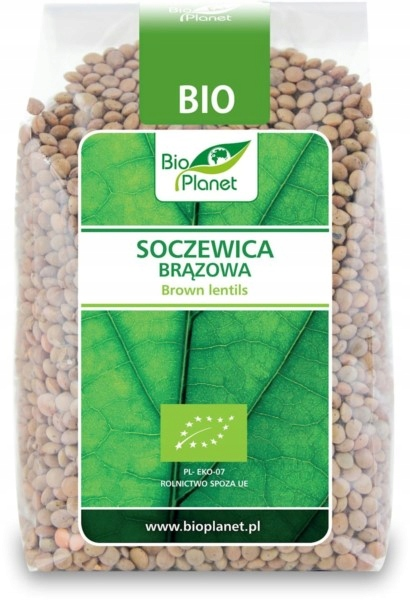 BIO PLANET Soczewica brązowa BIO 500g