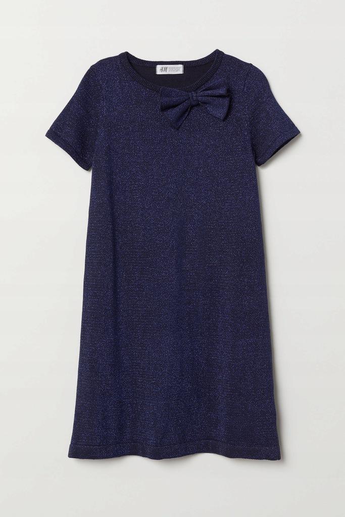 Brokatowa sukienka H&M 110/116 ideał