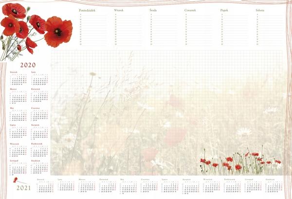 Kalendarz planer podkładka B3 z listwą