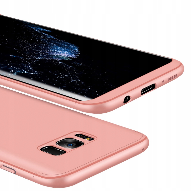Case etui przód + tył Samsung Galaxy S8 Plus róż