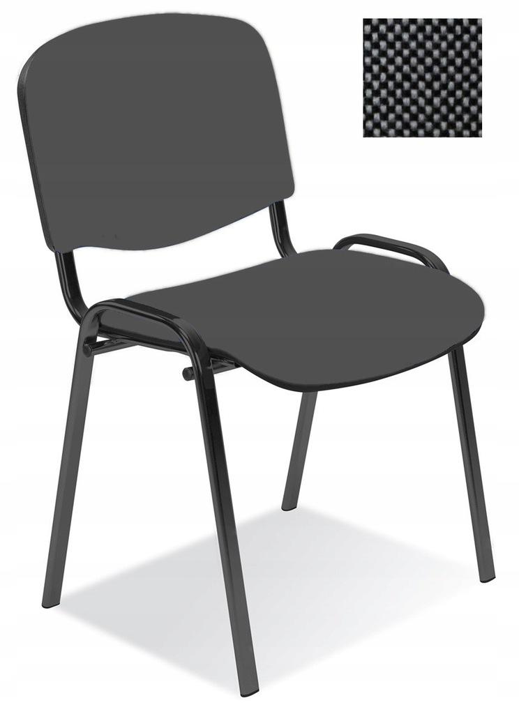 Krzesło konferencyjne ISO czarno-szare Nowy Styl