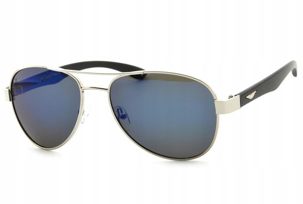 Okulary Lustrzanki Pilotki POLARYZACYJNE słoneczne