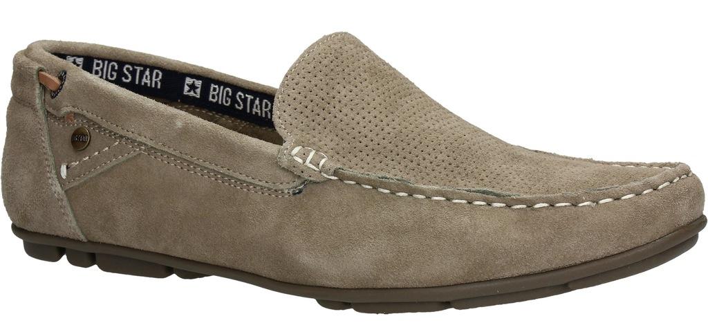 Mokasyny męskie BIG STAR AA174195 Beżowe Beż r. 45