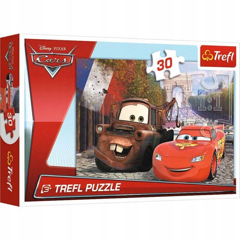 Trefl - Puzzle Cars Złomek i Zygzak 30 ele.