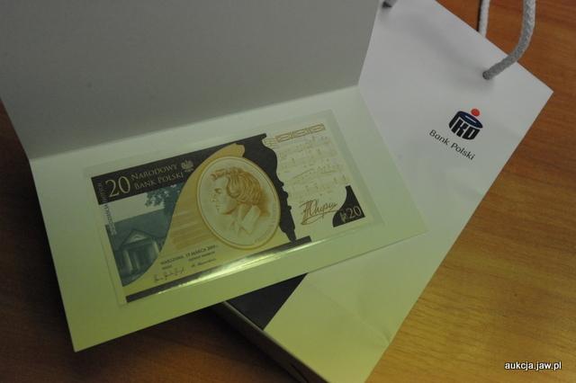 Banknot kolekcjonerski - 20 zł Chopin