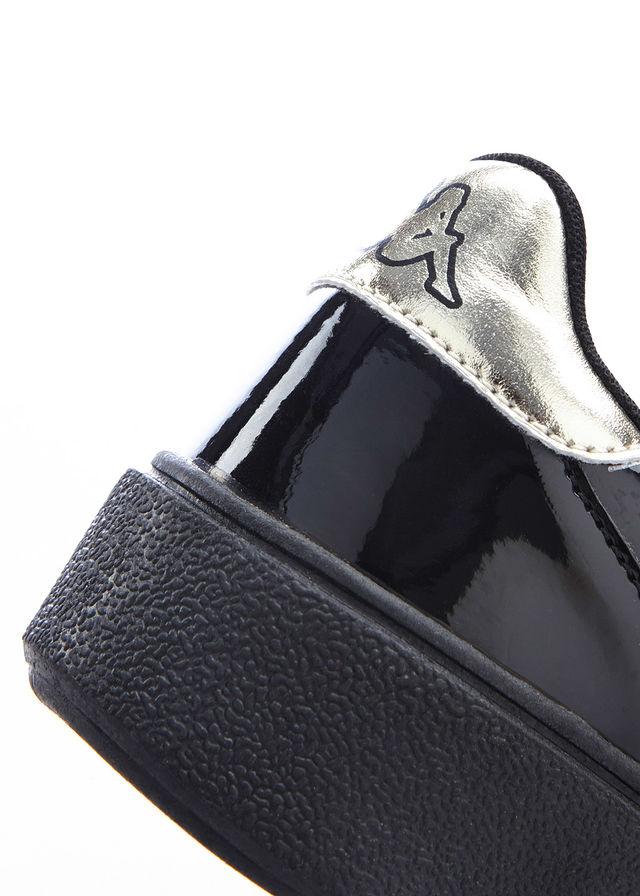Sneakersy Kappa 39 sznurówki z wstążki lakierowane