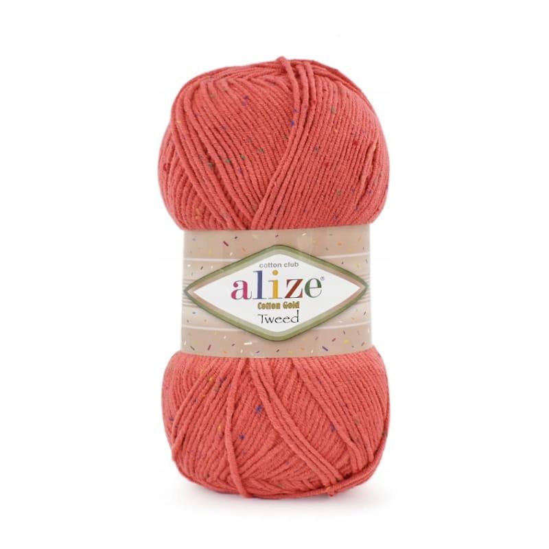 Włóczka Alize Cotton Gold Tweed 038 / koral