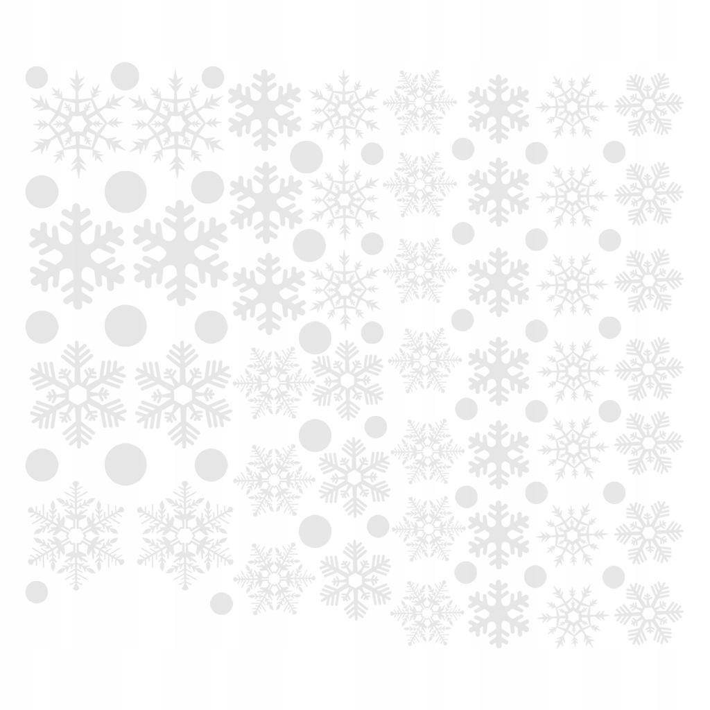 48 sztuk Snowflake Window Clings Bezklejowe naklej