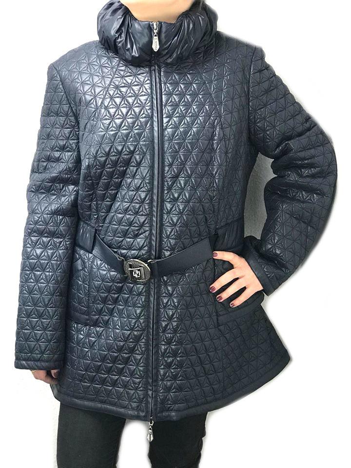 Pikowana kurtka damska płaszcz kaptur 38 48 tu 44