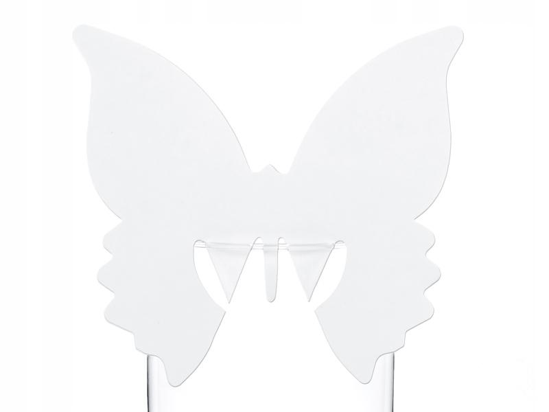 10 wizytówki na każdą okazję Komunia ślub Motyle