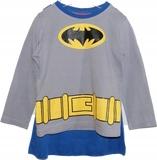BATMAN bluzka piżamowa z peleryną 104 cm