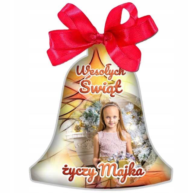 BOMBKA ze zdjęciem DUŻA prezent pod choinkę Święta