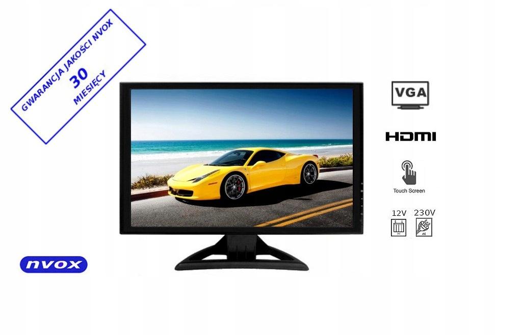 Monitor dotykowy lcd 19cali cali vga hdmi 12v 230v