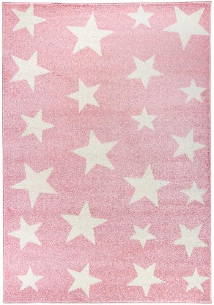 Dywan pokój dziecięcy białe gwiazdki 80x150_CARPET