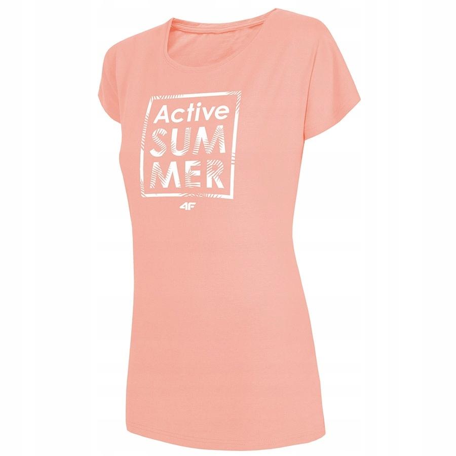 T-Shirt 4F H4L19-TSD011 64S różowy XL