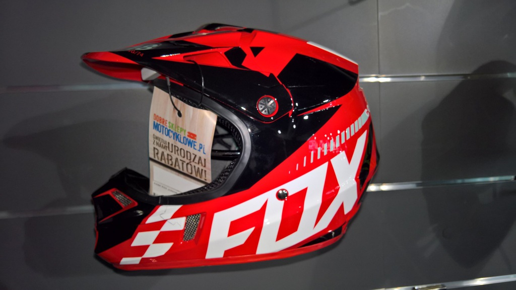 Kask Fox Junior V-1 Sayak Red roz. YM