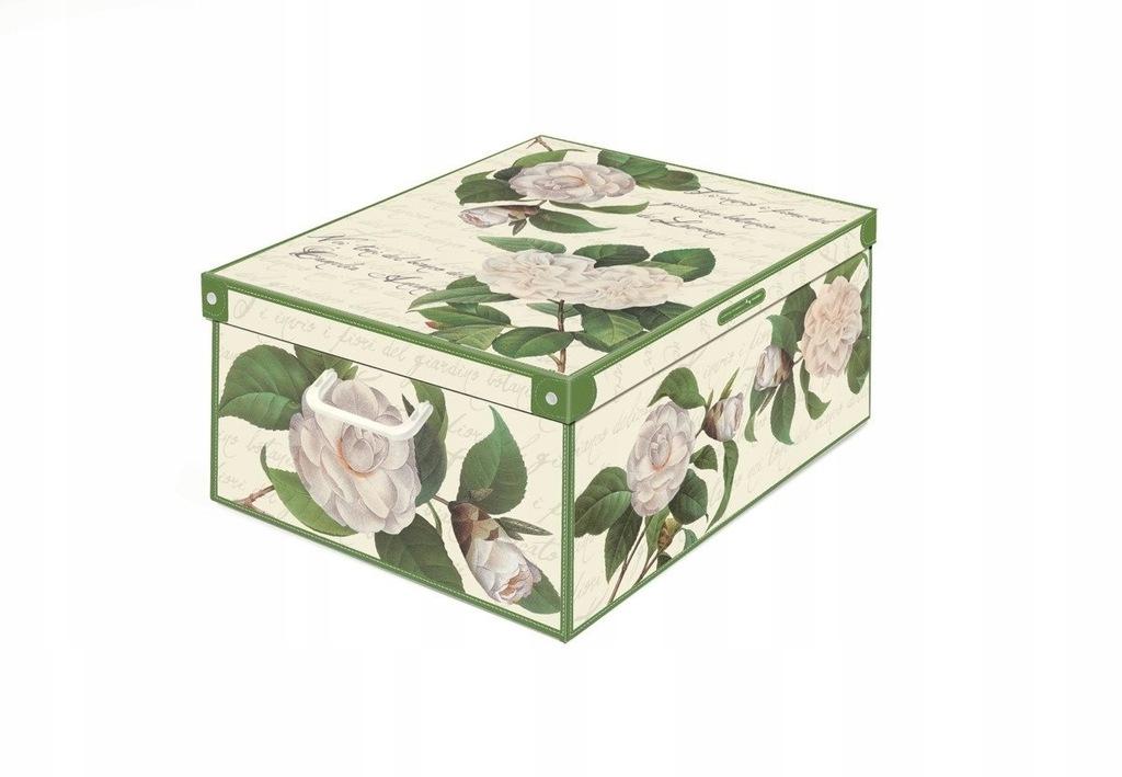 Pudełko dekoracyjne kartonowe MAXI KWIATY- KAMELIE