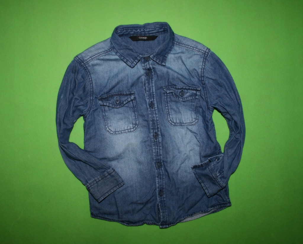 GEORGE stylowa modna JEANSOWA koszula 98-104