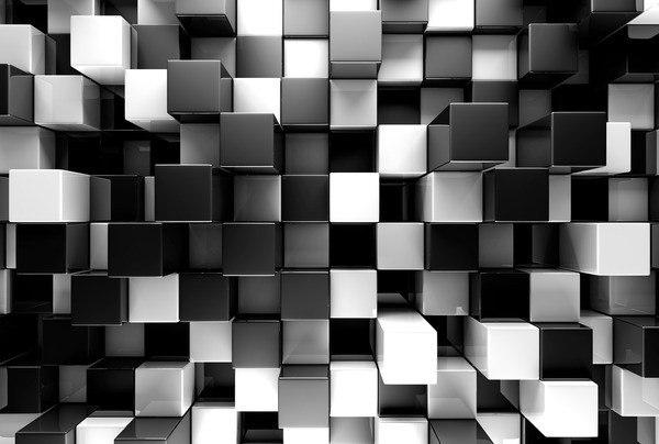 Okleina Trójwymiarowe piksele obraz
