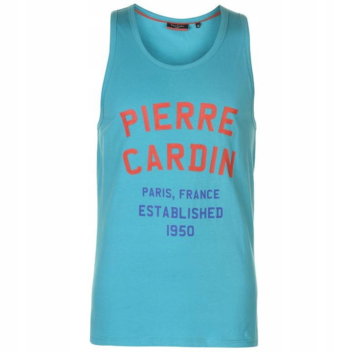 Pierre Cardin bezrękawnik turkusowy L
