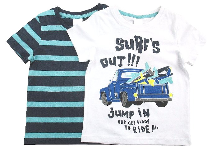 *C&A* _ T-SHIRTY __ 2-pak __ SURF'S OUT _ 122