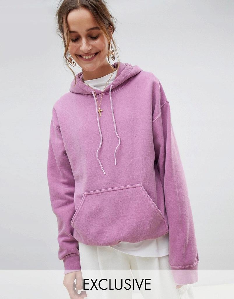 fioletowa bluza z kapturem damska