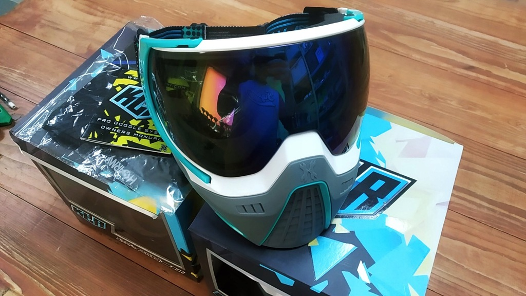 Maska Paintball HK Army KLR Goggle white/teal
